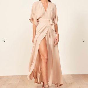 REFORMATION Winslow V-neck Maxi Dress Kimono XS